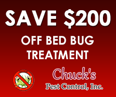 Save $200 Off Bed Bug Treatment
